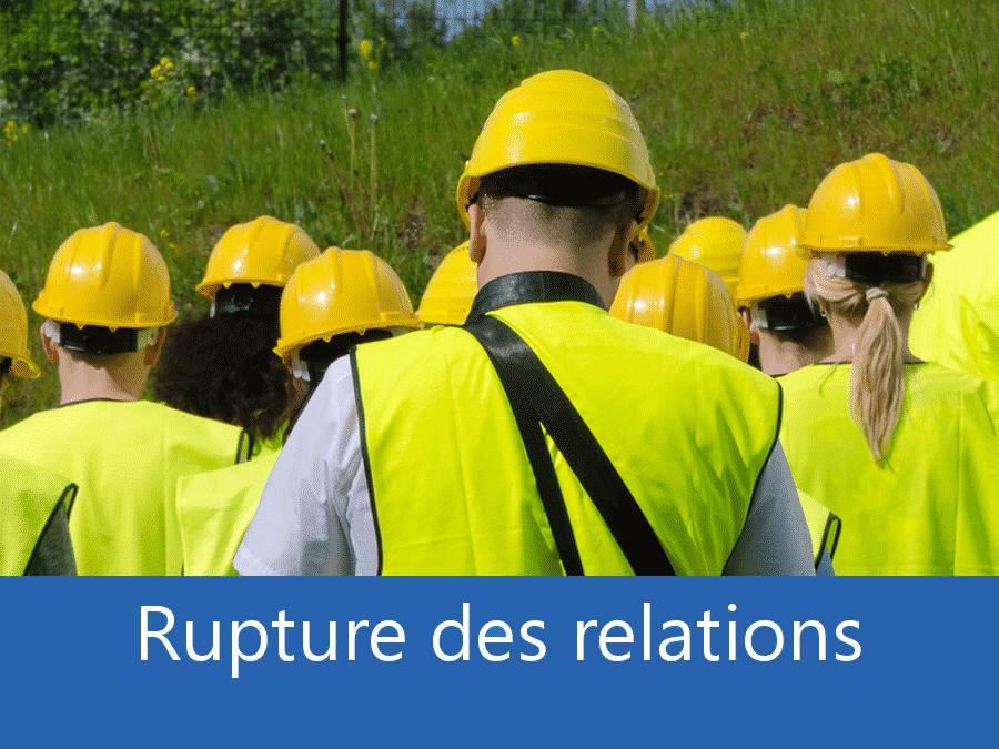 rupture des relation chantier 34, problème durant le chantier Montpellier, stress chantier Béziers, problème durant le chantier Hérault,